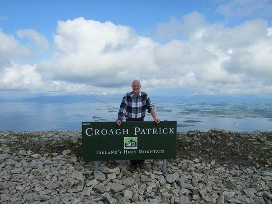 Croagh Patrick: Auf dem Gipfel
