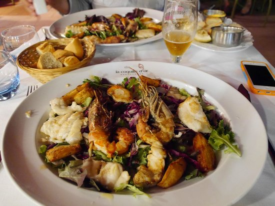 La Coquille d'Or: Mix Grill of fish and seafood