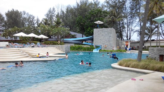 Outrigger Laguna Phuket Beach Resort: the fun water slide