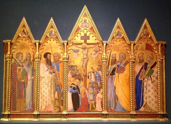 """The Courtauld Gallery: The exquisitely detailed """"Virgin and Child Triptych"""" [1325-1350]"""