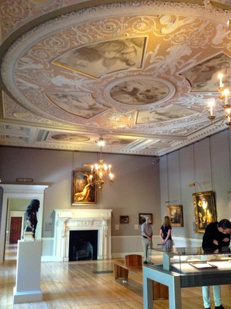 The Courtauld Gallery: One of the elegant rooms with reproduction ceiling paintings