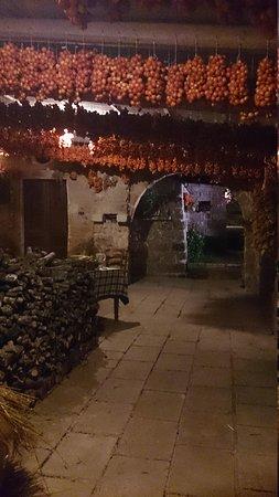 un angolo esterno della Masseria