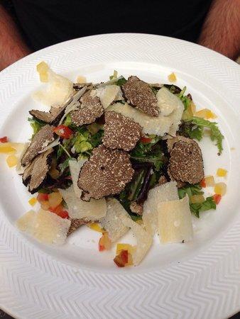 Le vin au 10 : Salade a la truffe