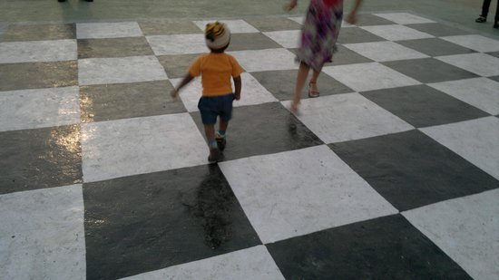 Wonder Park: Big Chess Board ... With my Son Playin on it ....