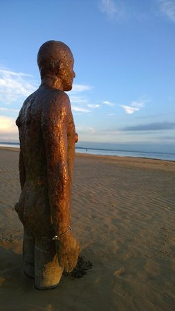 Antony Gormley's Another Place: just a very peaceful place - somewhere to reflect on life