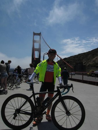 Streets of San Francisco Bike Tours : Beautiful weather at the Golden Gate