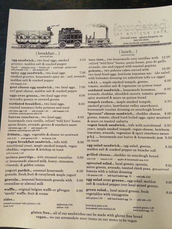 Outdated, An Antique Cafe : Menu