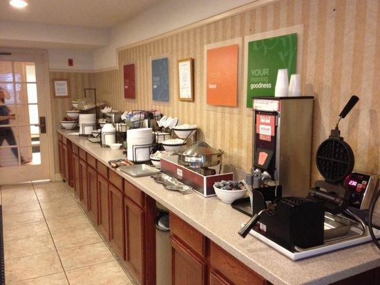 Comfort Inn Cordelia : Station déjeuner