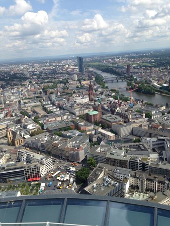 Main Tower: Frankfurt from above