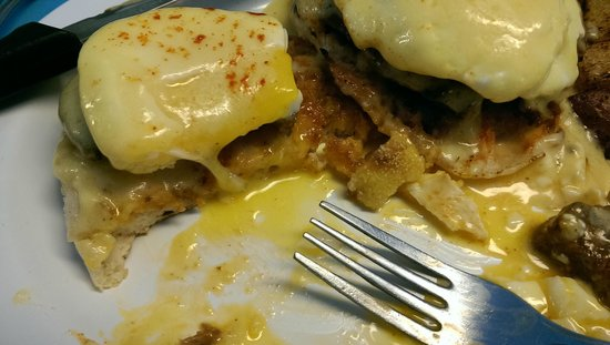 The Little Depot Diner: Eggs Benedict with homemade Hungarian sausage