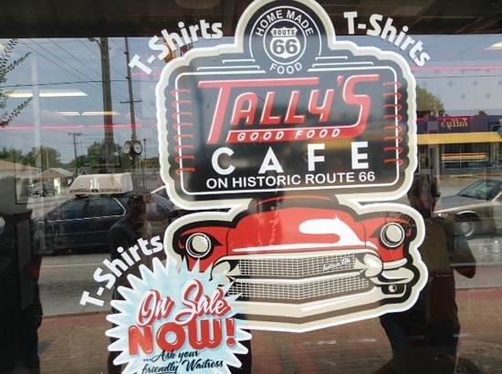 Tally's Good Food Cafe: window on the world