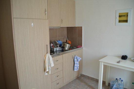 Zorbas Apartments: Preparazione del gyros della Taverna Zorbas