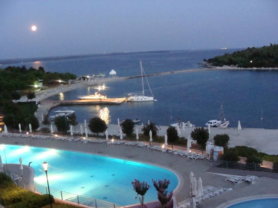 Island Hotel Istra: View from our room at night