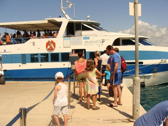 Island Hotel Istra: The boat to transport you to and from Rovinj