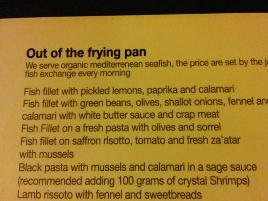 Shila - Sharon Cohen's Kitchen & Bar: Watch out for the spelling mistakes…..