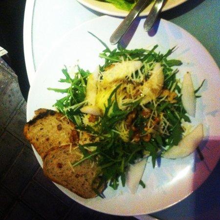 Warung Kecil: pear walnut and cheese salad