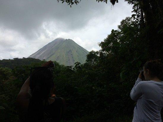Parque y Jardines de Cerro Chato ANC: Active Arenal volcano as seen from the top of Dormant Volcano Cerro Chato