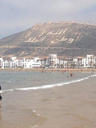 Anezi Tower Hotel: Местность на пляже Агадир