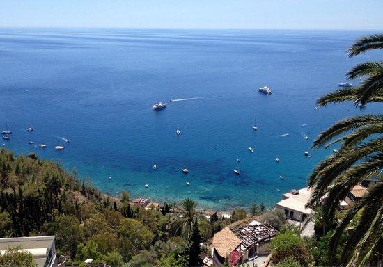 Hotel Villa Schuler: Vue sur la mer depuis notre balcon !