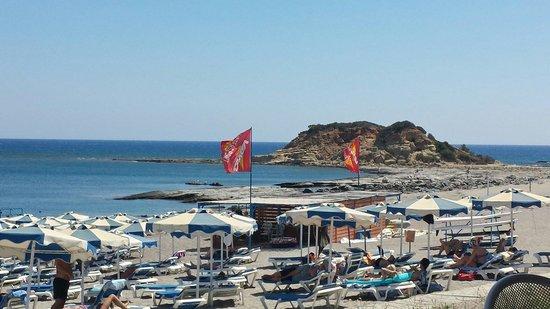 Rodos Princess Beach Hotel: La spiaggia...