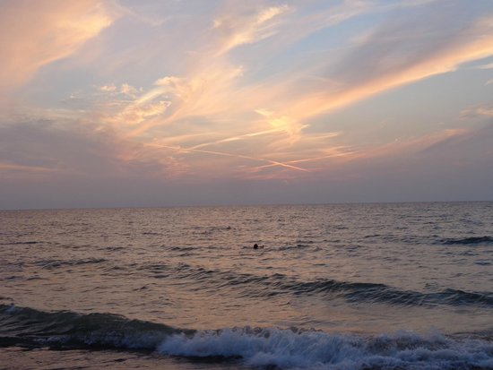 Van Buren State Park : sunset on the beach