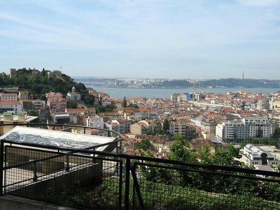 Miradouro da Senhora do Monte : Vista para o rio tejo