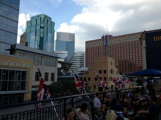 Brit's Pub & Eating Establishment: Downtown skyline