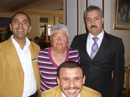 El Mouradi Port El Kantaoui: 3 der guten Geister des Hotels, welche mit zu einem schönen Urlaub beitragen.k