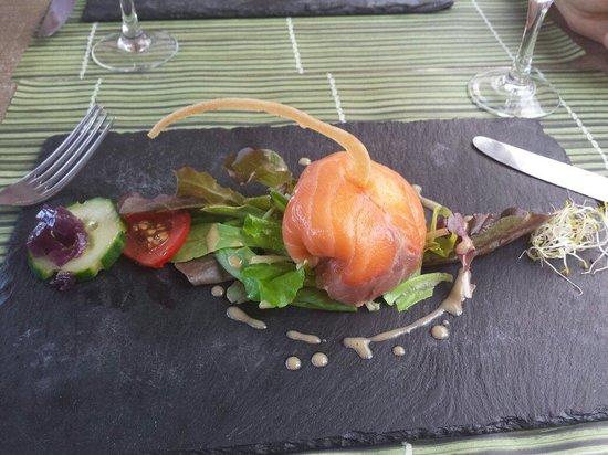 Le Saint Gilles : Aumônière de saumon fumé