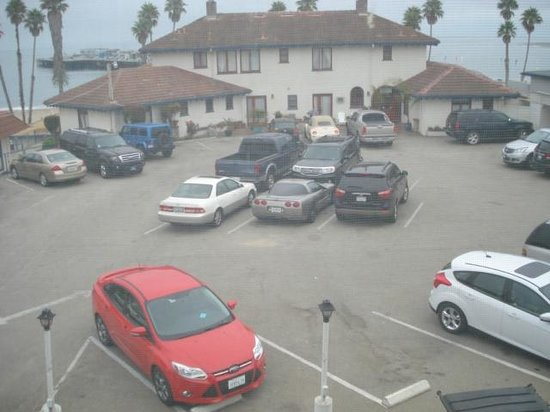 Casablanca Inn on the Beach: View from the room, parking lot not ocean front as guaranteed.
