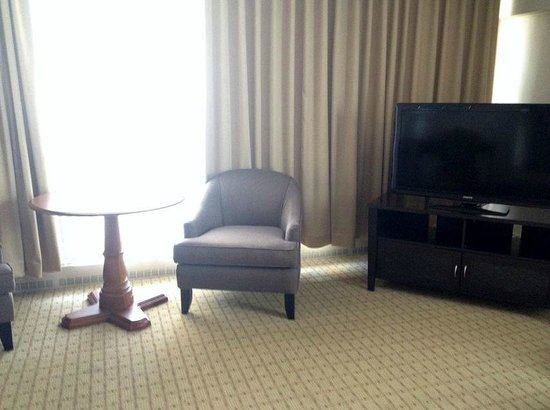 Embassy Hotel and Suites: TV in the corner