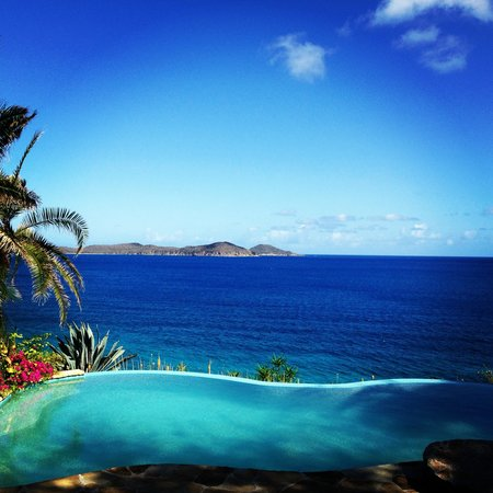 Rosewood Little Dix Bay: the spa infinity pool. heaven.