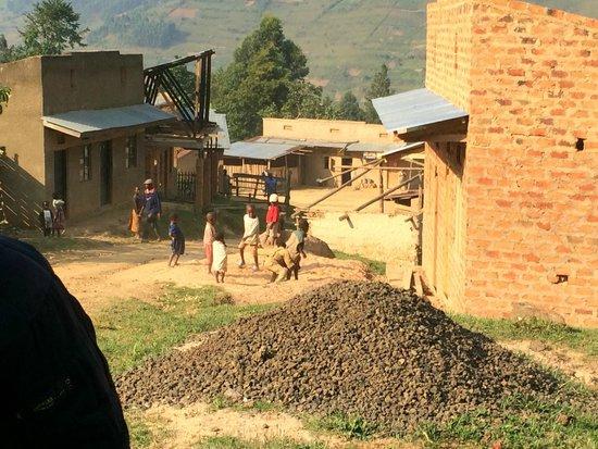 Clouds Mountain Gorilla Lodge: local village