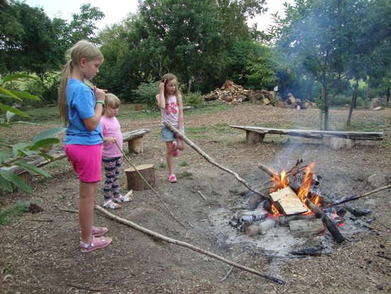 Plush Tents Glamping: Fire pit