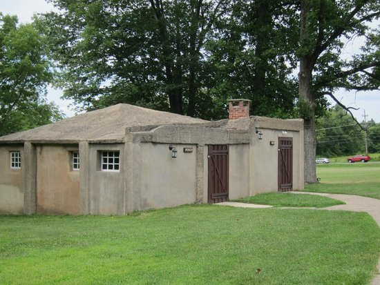Moravian Tile and Pottery Works: Former stables--now the restrooms!