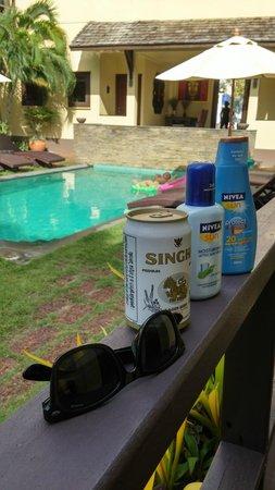 Villa Tanamera : the pool from pool villa balcony