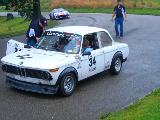 """Schenley Park: BMW 2002 during the """"Ride-Along"""" session."""