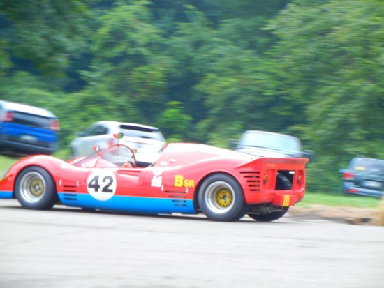 Schenley Park: 1964 Causey Special sports racer approaching the hairpin turn.