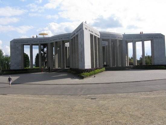 Brussels City Tours: The monument outside the Bastogne Museum.