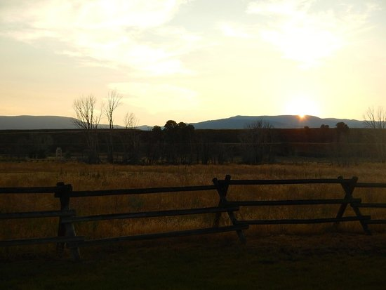 Sunset at Yellowstone Valley Lodge