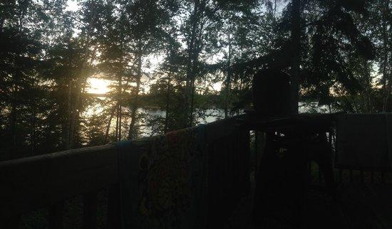 Falcon Trails Resort: Falcon Trails from deck of cabin