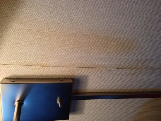 Hotel Alyeska: Dirty yellowing and peeling wall paper