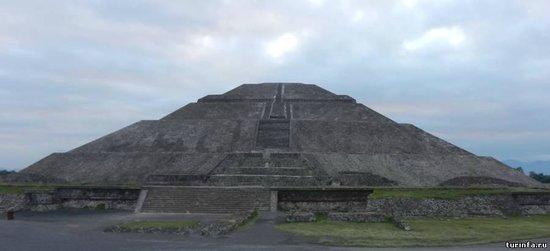 Teotihuacan : Теотиукан, пирамида солнца.