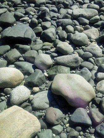 Tsa-Kwa-Luten Lodge: Rocks on beach