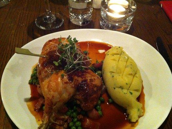 Brasserie Sixty6 : Rotisserie chicken, with herb stuffing balls