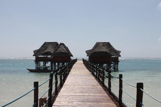 Dongwe Club: vista reale del pontile