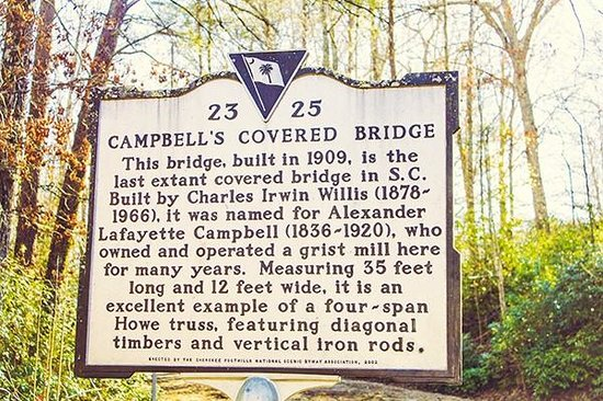 Campbell's Covered Bridge: Historical Mark