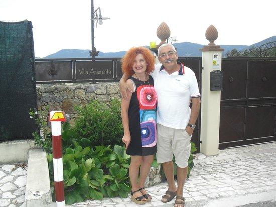 B&B Villa Amaranta: Rosalba & Paolo, 2 schatten van mensen !