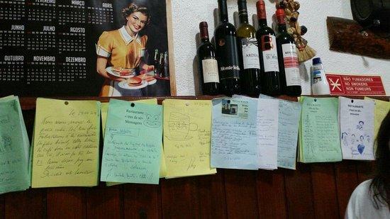 Restaurante Trás da Sé : Mensagens dos clientes. .... en todas as línguas.