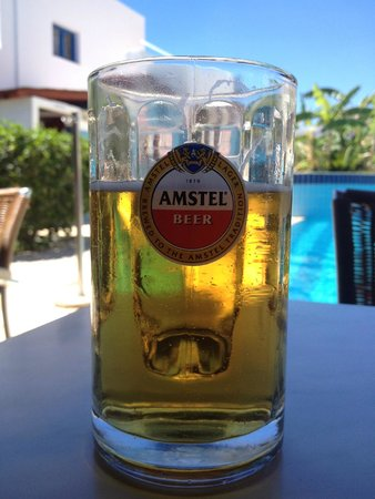 Lindos Athena Hotel: Alfa beer.. ice cold in an ice cold glass... heaven!